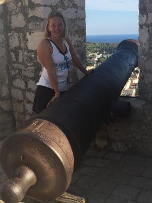 Utsikt från fortet Kastela Spanjola i byn Hvar på ön Hvar. En kanonbild? :)