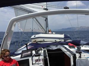 Under full sails!