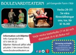 Teater och kurser med Boulevardteatern.