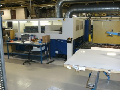 Lasermaskin för tillverkning av specialprodukter i rostfritt stål
