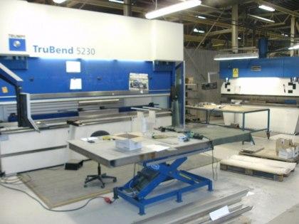 Kantpressar för rostfritt stål och aluminium