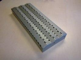 Halkfrittt trappsteg i rostfritt stål