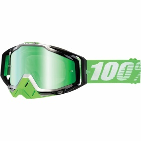100% Goggles Racecraft Organic - 100% Goggles Racecraft Organic Green Mirror