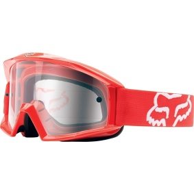 FOX Main Goggles Red - FOX Main Goggles Red clear lens