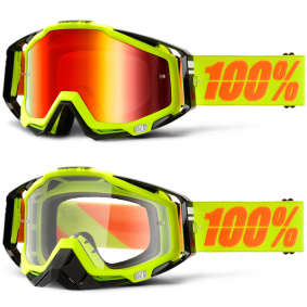 100% Goggles Attack Yellow - 100% Goggles Attack Yellow clear lens
