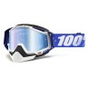 100% RACECRAFT COBALT BLUE SNOW GOGGLE -BLUE MIR L