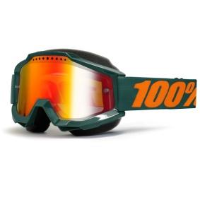 100% ACCURI GUN METAL SNOW GOGGLE - RÖD SPEGEL L. - 100% ACCURI GUN METAL SNOW GOGGLE - RÖD SPEGEL L.