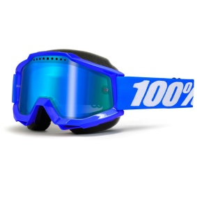 100% ACCURI REFLEX BLUE SNOW GOGGLE - BLUE MIR. L. - 100% ACCURI REFLEX BLUE SNOW GOGGLE - BLUE MIR. L.