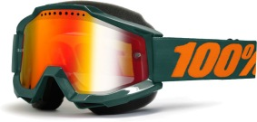 100% Accuri Gun Metal Snow Goggle - Red Mirror L. - 100% Accuri Gun Metal Snow Goggle - Red Mirror L.