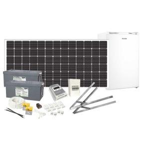 Solcellspaket 200W med 12V 110L kylskåp