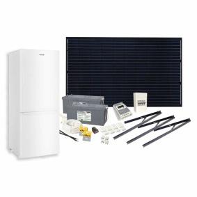 Solcellspaket 300W med 139L 12V kylskåp