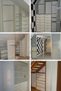 Garderober, skjutdörrar, dressingroom, inredningar