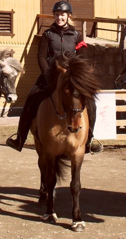Emma & Smári på hingstfestivalen 2012