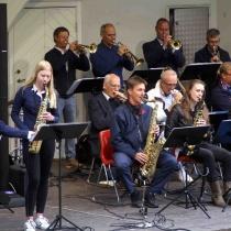 """Kvällens enda instumentalsolist Saxofon : Hanna Nilsson spelade """" Misty"""""""