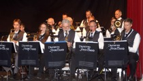 Saxofonsektionen: Björn Danielsson, Liselott Johansson, Jan Kupiec, Anders Nilsson, Mattias Darlin.