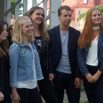 Kimmie Fagerberg, Linnea Wignell, Alice Erlandsson, Ludvig Kärrman och Sarah Delvert