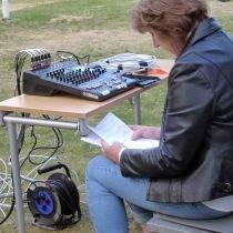 Ingrid Lindebratt höll ordning på både noter och mixerbord