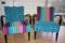 Karmstolar klädda med tyg från Designers Guild