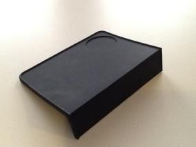 Tampermatta silikon svart med överhäng - Tampermatta silikon svart med överhäng