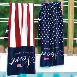 Badhandduk: Stars & Stripes, Ruggles - Newport / Foto & Styling: Newport / Frotté