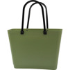 Sweden Bag - Liten - GREEN PLASTIC - Naturgrön med original handtag - Green Plastic