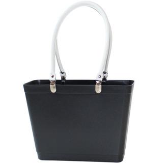Sweden Bag - Liten - Svart med vita läderhandtag