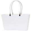 Sweden Bag - Stor - Väska Vit med vita läderhandtag