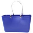Sweden Bag - Stor - Väska Blå med vita läderhandtag