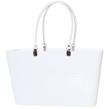 1950 Original - Perstorp Design - Väska med vita läderhandtag - Väska Vit med vita läderhandtag