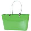 1950 Original - Perstorp Design - Väska med vita läderhandtag - Väska Grön med vit läderhandtag