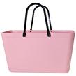 Sweden Bag - Stor - Green Plastic - Dusty Pink med original handtag