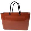 1950 Original - Perstorp Design - Green Plastic - [Väska Copper Braun med original handtag