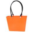 Sweden Bag - Liten - Orange med svarta läderhandtag