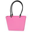 Sweden Bag - Liten - Rosa med svarta läderhandtag