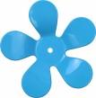 Väggkrok Blomma - Ljusblå