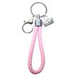 Nyckelringar i läder - Rosa
