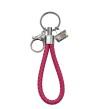 Nyckelringar i läder - Magenta