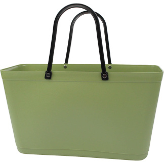 Sweden Bag - Stor - Green Plastic - Reed Green / Naturgrön med original handtag