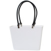 Sweden Bag - Small, with long leather handles - White / Black
