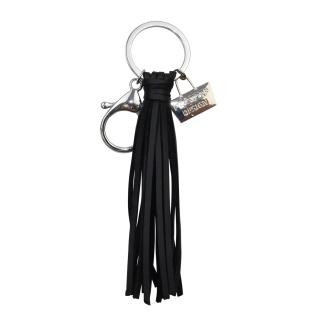 Nyckelringar i läder - Svart - Tassel