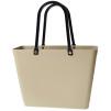 Sweden Bag - Liten - GREEN PLASTIC - Warm Sand med original handtag - Green Plastic