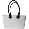 Stor väska med läderhandtag - Vit Sweden Bag Stor med långa handtag