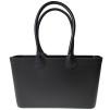 Stor väska med läderhandtag - Svart Sweden Bag Stor med långa handtag