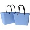 Paketpris 2 st Sweden Bag - Väska i greenplastic Sky Blue 1 st stor och 1 st liten