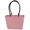Sweden Bag - Small, with long leather handles - Dusty Pink / Black