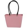 Sweden Bag - Liten - Dusty Pink med svarta läderhandtag BIOPLAST