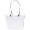 Sweden Bag - Small, with long leather handles - White / White