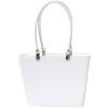 Sweden Bag - Liten - Vit med vita läderhandtag