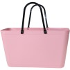 Sweden Bag - Stor - Green Plastic - Dusty Pink med original handtag