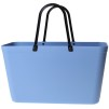 Sweden Bag - Stor - Green Plastic - Sky Blue med original handtag